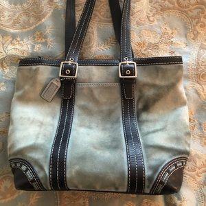 Coach Blue Suede Handbag